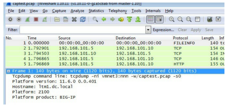 F5 Networks Wireshark Plugin - Veracomp - we inspire IT